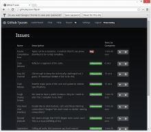 GitHub Tycoon Issue Page